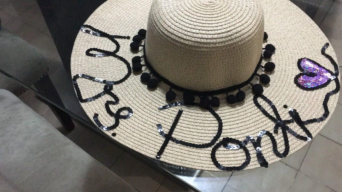 Sombreros De Playa Personalizados -   490.00 en Mercado Libre 43131bd7bcc