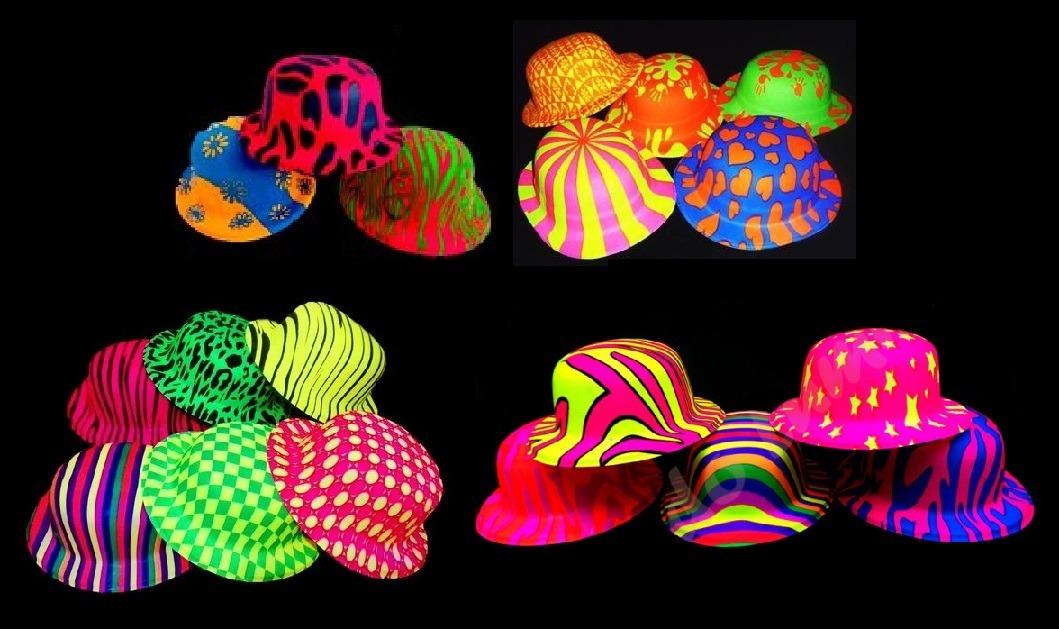 sombreros gorros bombin fluo x12 - cotillon carioca. Cargando zoom. 9f7ae2272a6
