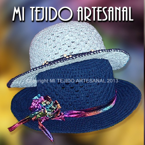 Sombreros Para Damas Y Adolescentes Tejidos Al Crochet -   280 6dc0c42e661