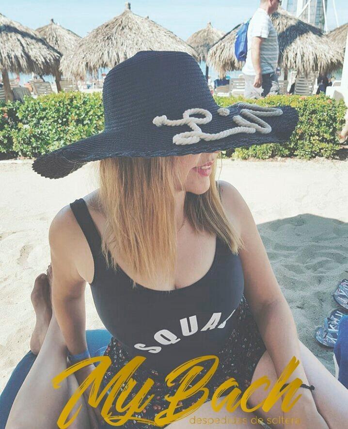 Sombreros Para Playa Personalizados -   320.00 en Mercado Libre f2b525f603d