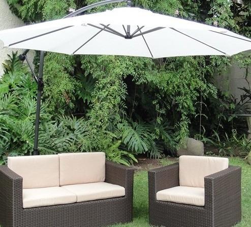 sombrilla 3m caño banana jardin patio mas grande gazebo --18 cuotas sin interes