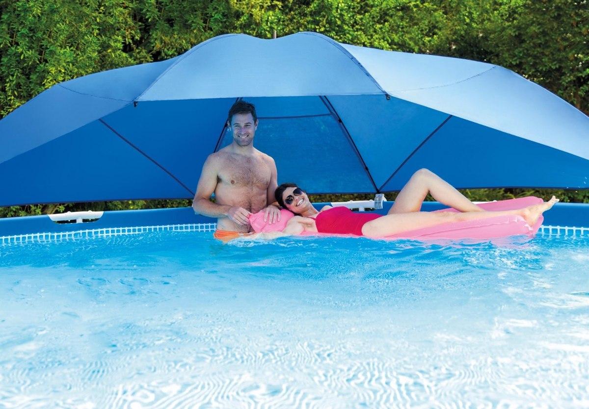 Sombrilla ajustable para piscinas intex 28050 de 366 a for Intex piscinas
