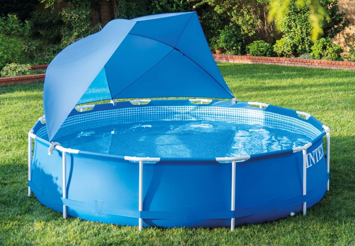 Sombrilla ajustable para piscinas intex 28050 de 366 a for Sombrillas para piscinas