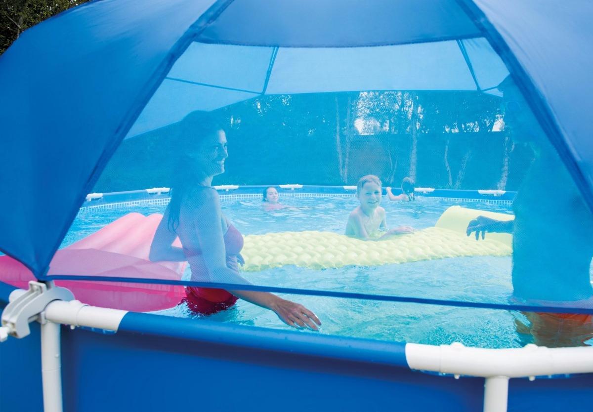 Sombrilla ajustable para piscinas intex 28050 de 366 a - Sombrillas para piscinas ...