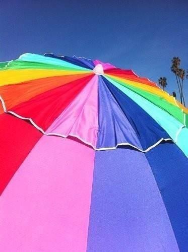sombrilla arcoiris grande playa exteriores - Sombrillas De Playa Grandes