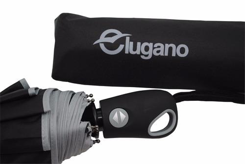 sombrilla automática lugano g176005 negro con gris