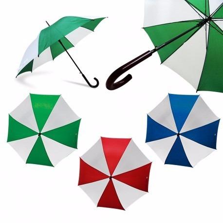 sombrilla bicolor marcamos personalizamos a full color logos