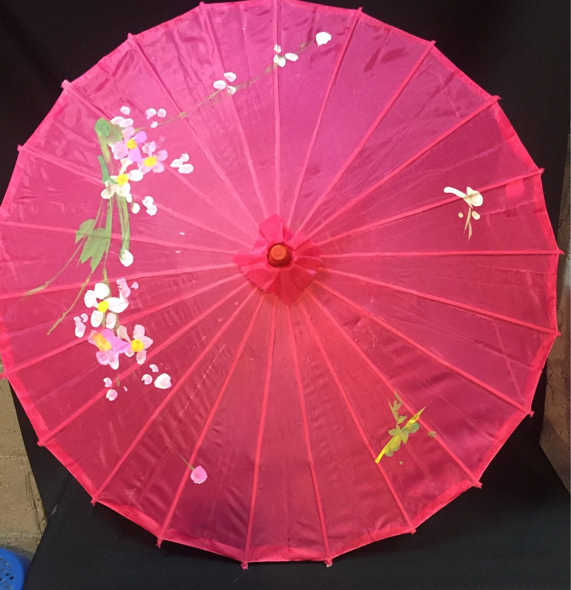 Sombrilla china de tela tradicional varios colores 220 for Tela para sombrillas