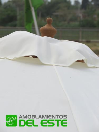 sombrilla comercial reforzada filtro uv 50 octogonal 3.00 mt