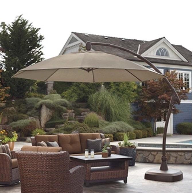 sombrilla de alta calidad para jardin o terraza elegante