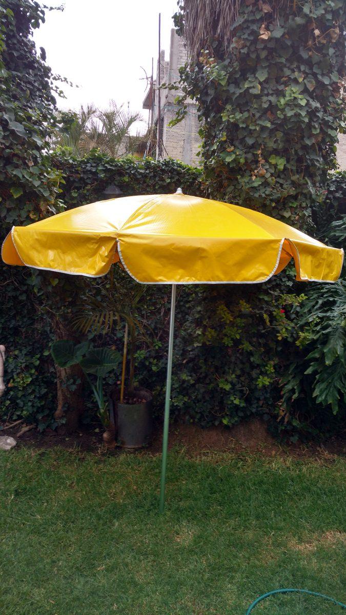 Sombrilla de lona reforzada para playa o jard n 1 799 for Sombrillas de jardin