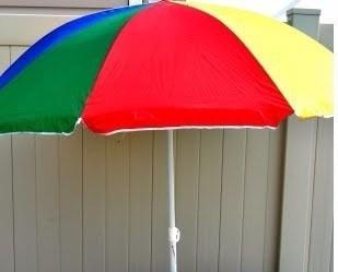 sombrilla de playa piscina o jardin multicolor importada