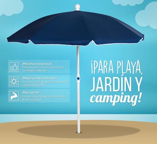sombrilla de playa premium 1.80 mts. verde - encontralo.shop