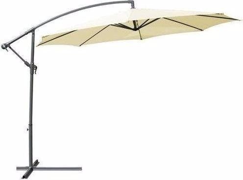 sombrilla en acero c/filtro uv 50 de pie lateral con roldana