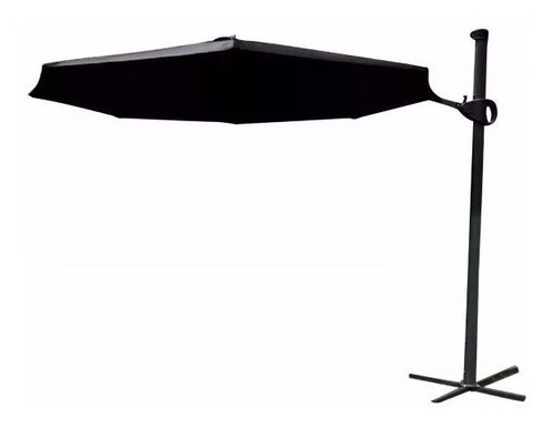sombrilla exterior jardin regulable 3mt color negra lusqtoff