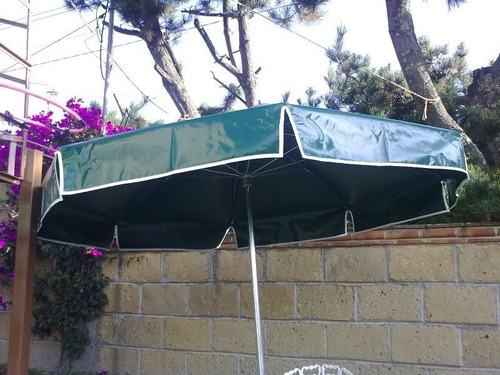 sombrilla lona reforzada 2.2 metros