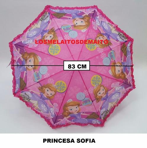 sombrilla niña infantil juguete frozen princesas tinkerbell