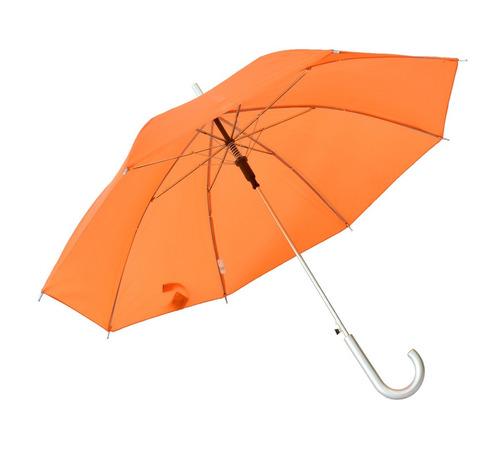 sombrilla paraguas color naranja neon 82 cm diámetro