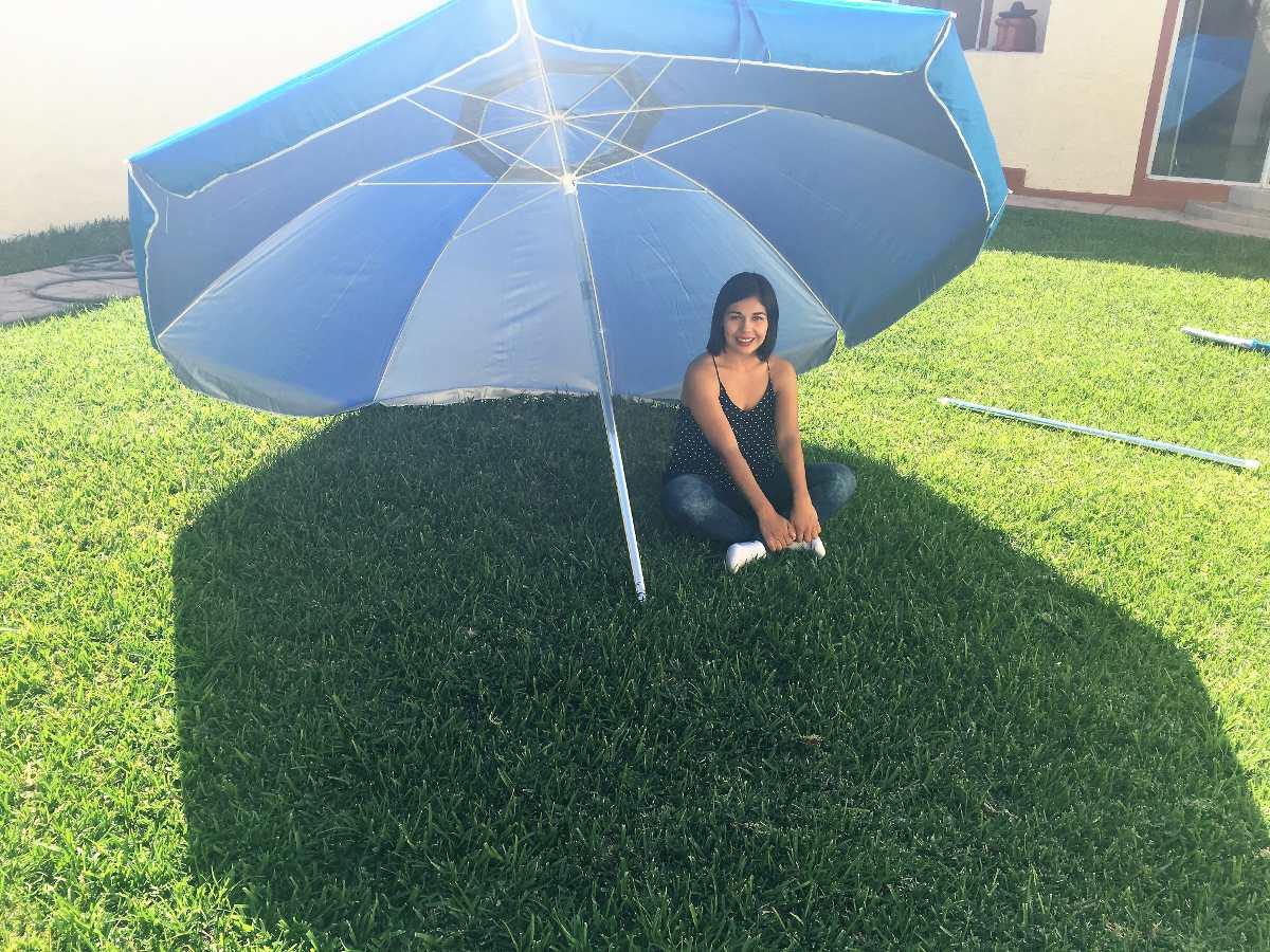 sombrilla paraguas grande playa terraza jardin 3 mts cargando zoom - Sombrillas De Playa Grandes