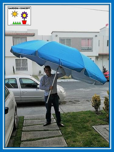 good sombrilla paraguas grande playa terraza jardin mts with sombrilla grande sombrillas de playa grandes - Sombrillas De Playa Grandes