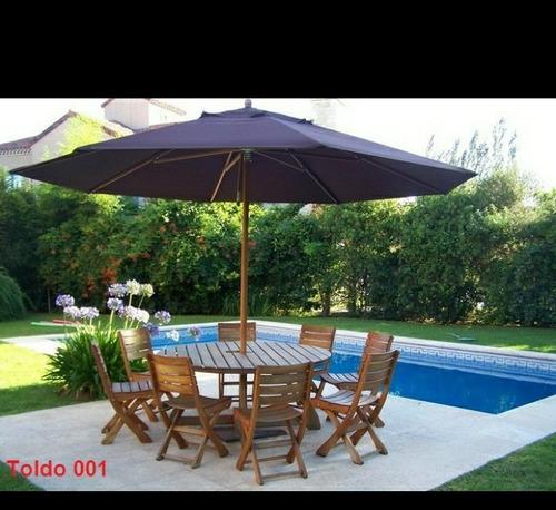sombrilla paraguas  toldo para piscina porche jardín 3 metro