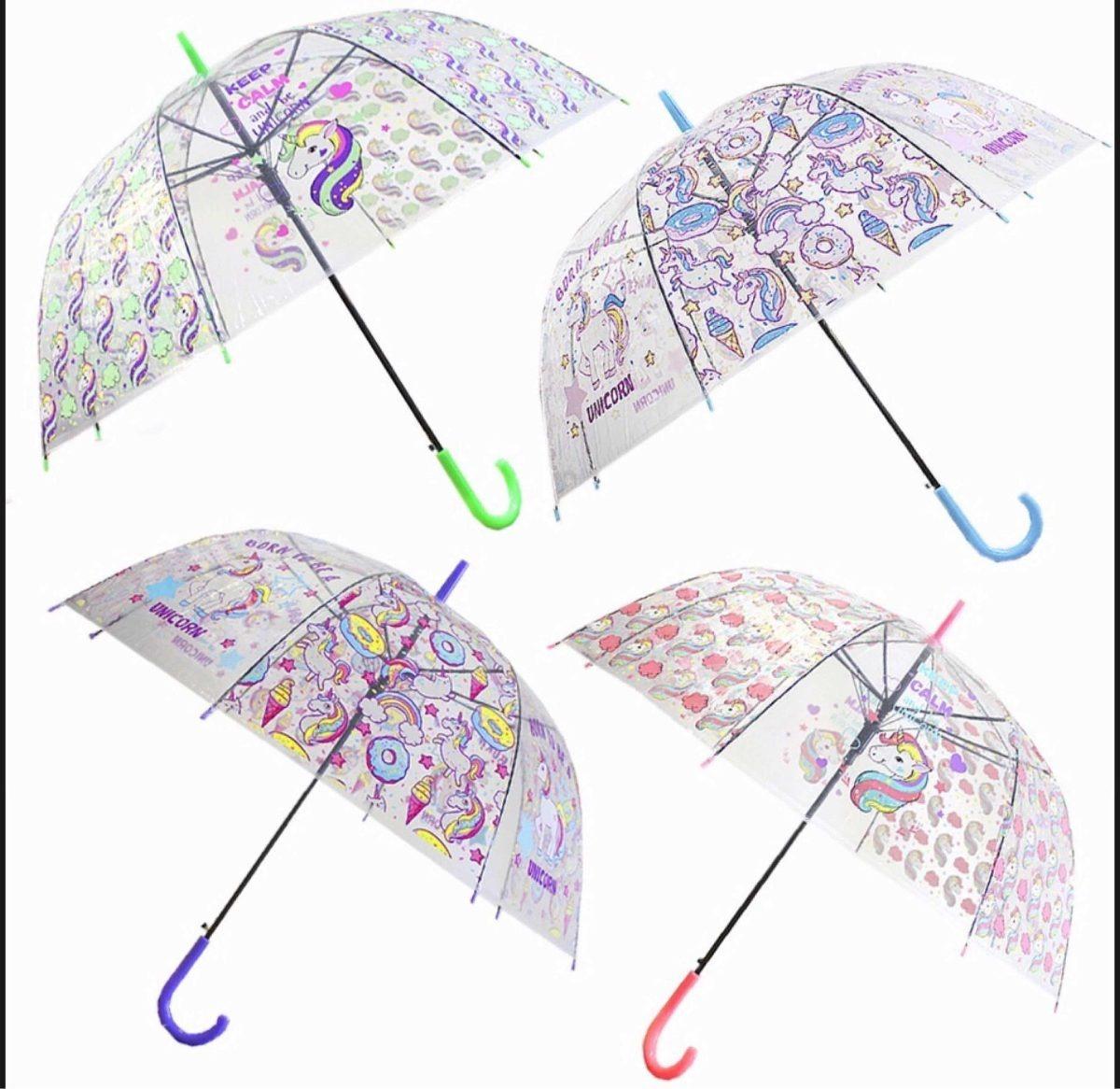 comprar real guapo Super baratas Sombrilla Paraguas Transparente Unicornios.