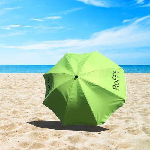 sombrilla playa camping 1,8mt aluminizada filtrouv poliester