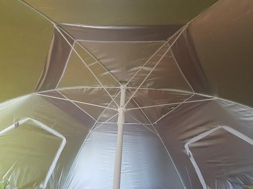 sombrilla playa carpa reforzada 2,4  metros diametro fil uv