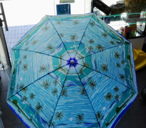 sombrilla playera inclinable playa jardin practica 1.8 mts