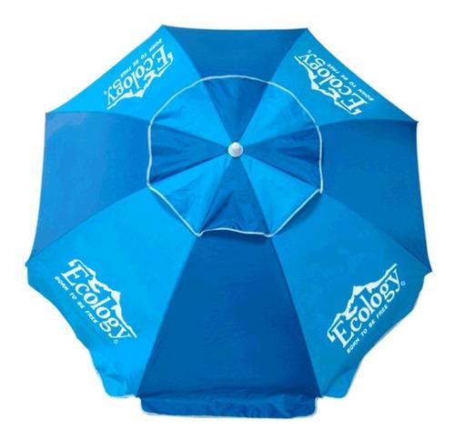 sombrilla playera parasol 1.9m protección uv ecology