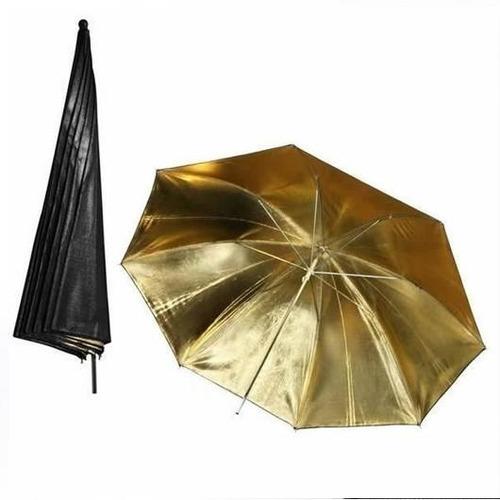 sombrilla translucida + dorada fotografia 84cm 33 estudi