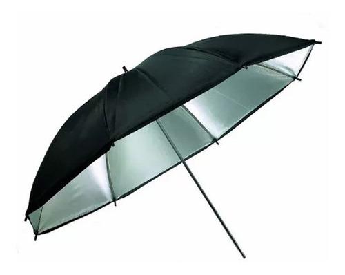 sombrilla/paraguas godox 101 cm  negro/plateado