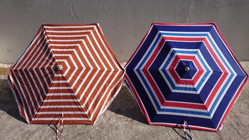 sombrillas de playa de hierro galvanizado y lona de algodón