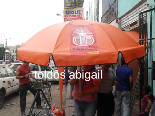 sombrillas metálicas publicitarias de varias medidas