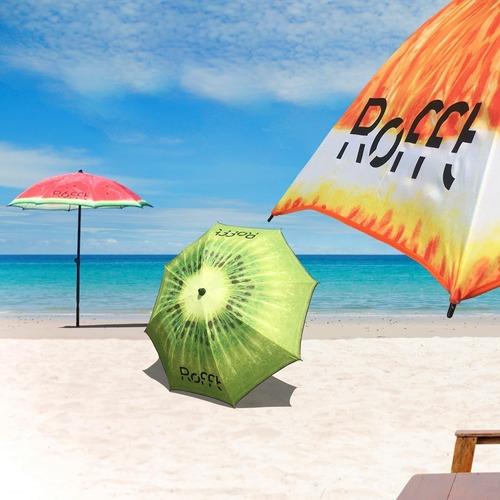 sombrillas playa jardin pileta diseños frutales originales
