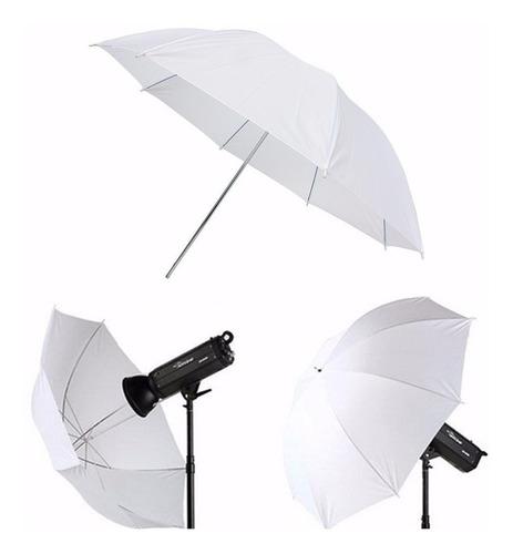 sombrinha difusora branca suavizadora p/ estúdio fotográfico