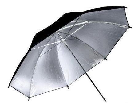 sombrinha refletora preta e prata 91cm greika