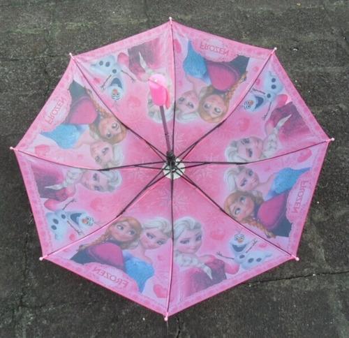 sombrinha rosa frozen 38-86 - pronta entrega
