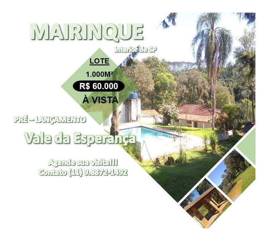 somente essa semana, terrenos 1000m² por r$ 60,000 à vista