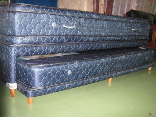 somier colchon y divan cama carro dual 100x200 con almohada