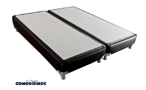 somier o base cama marca comodísimos 180x190  en dos partes