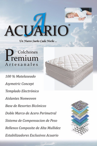 somier y colchon sommie140x190 x 32 pillow jackard mas cover