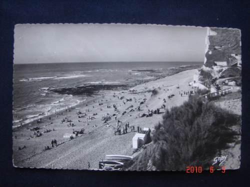 somme, playa - francia - antigua postal.
