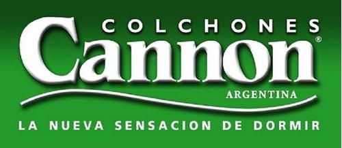 sommier 1 plaza 80x190x31 base de somier reforzada cannon princess garantía 5 años!!! envío capital federal gratis!!!