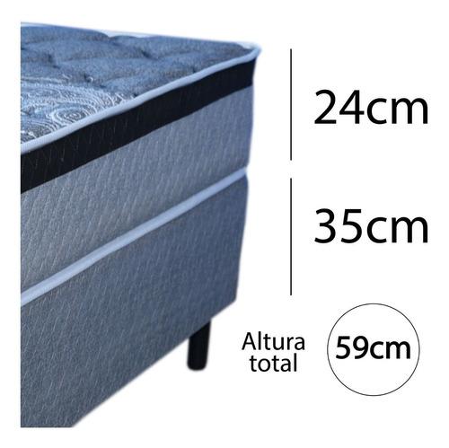 sommier 1 plaza espuma alta densidad 150kg altura 24cm s