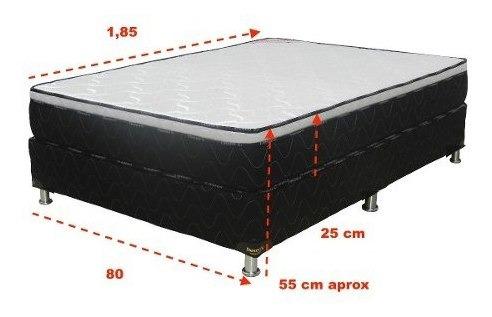 sommier 1 plaza espuma densidad 60 box con eurotop deseos
