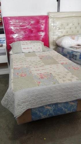 sommier + colchón 1 plaza camudi