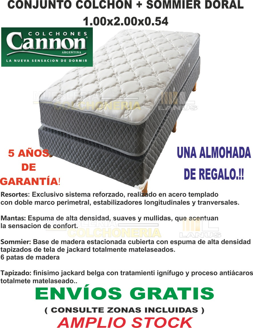 Sommier Colchon Cannon Plaza Cargando Zoom