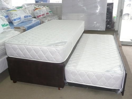 sommier colchón divan cama carro dual - 1 plaza europa