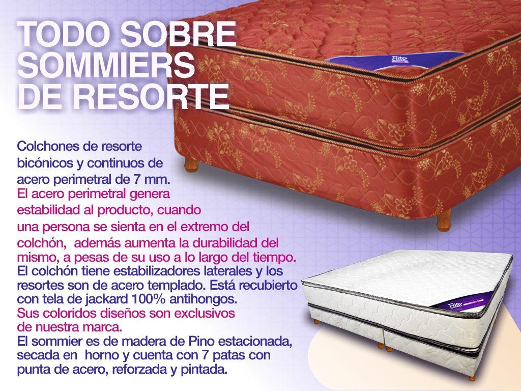 Sommier Colchon (somier) Dos Plazas Pillow Top Resortes - $ 9.799,00 ...